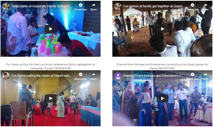Are you looking for an Emcee to host a Family Gettogether Event in Tamilnadu?
