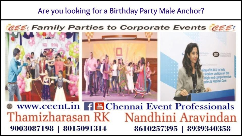 Are you looking for a Birthday Party Male Anchor?