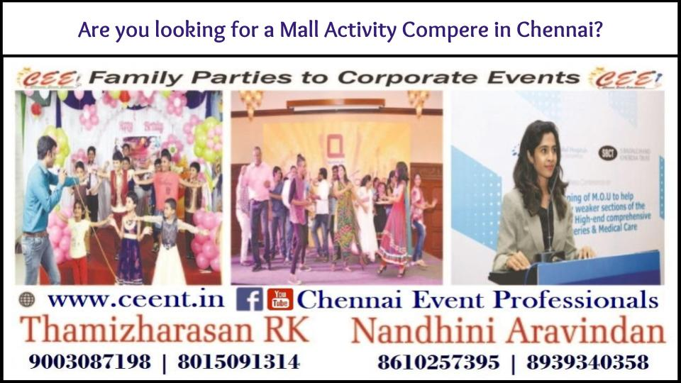 Are you looking for a Mall Activity Compere in Chennai?