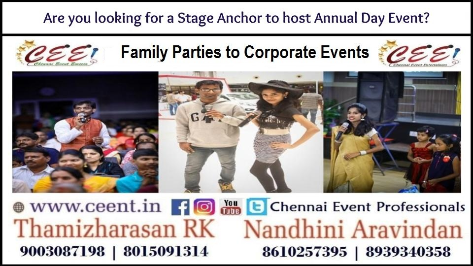 Are you looking for a Stage Anchor to host Annual Day Event?