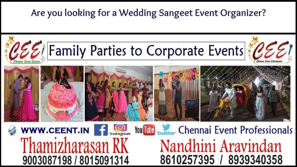 Are you looking for a Wedding Sangeet Event Organizer?