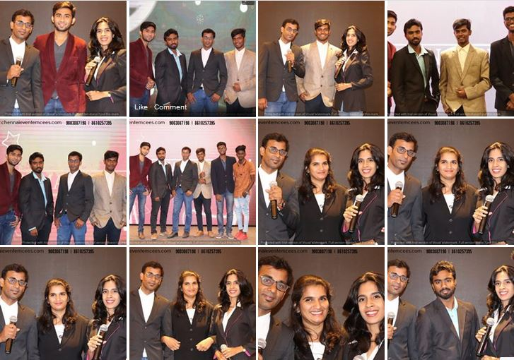 Chennai Event Emcees Anchors Team Photo Collage