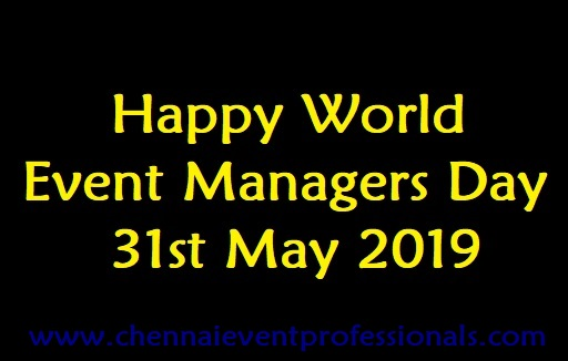 World Event Managers day wishes by Chennai Event Emcees and Entertainers Team
