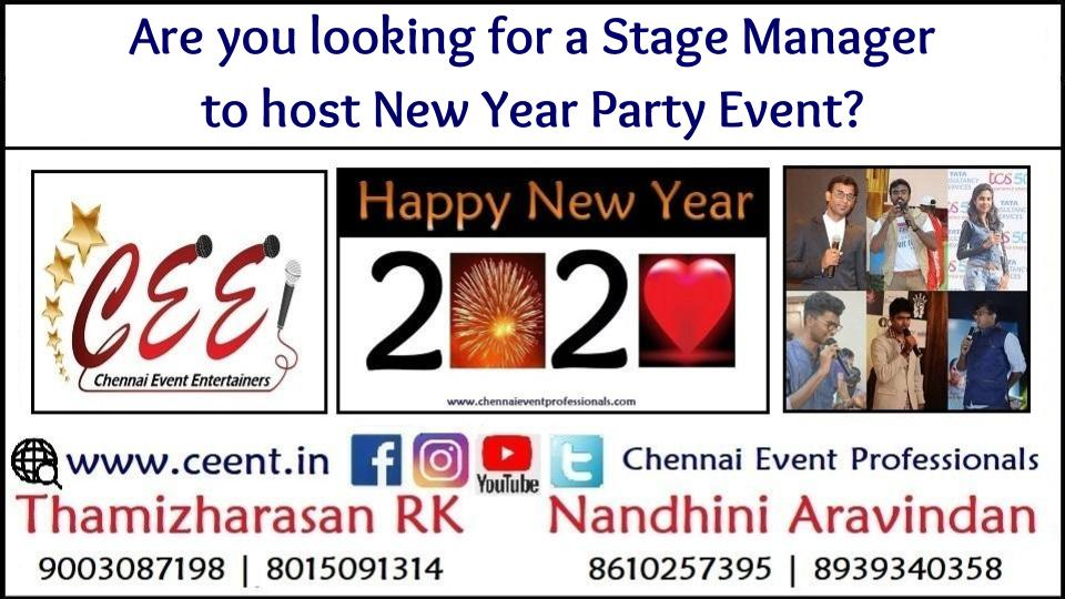 Are you looking for a Stage Manager to host New Year Party Event_