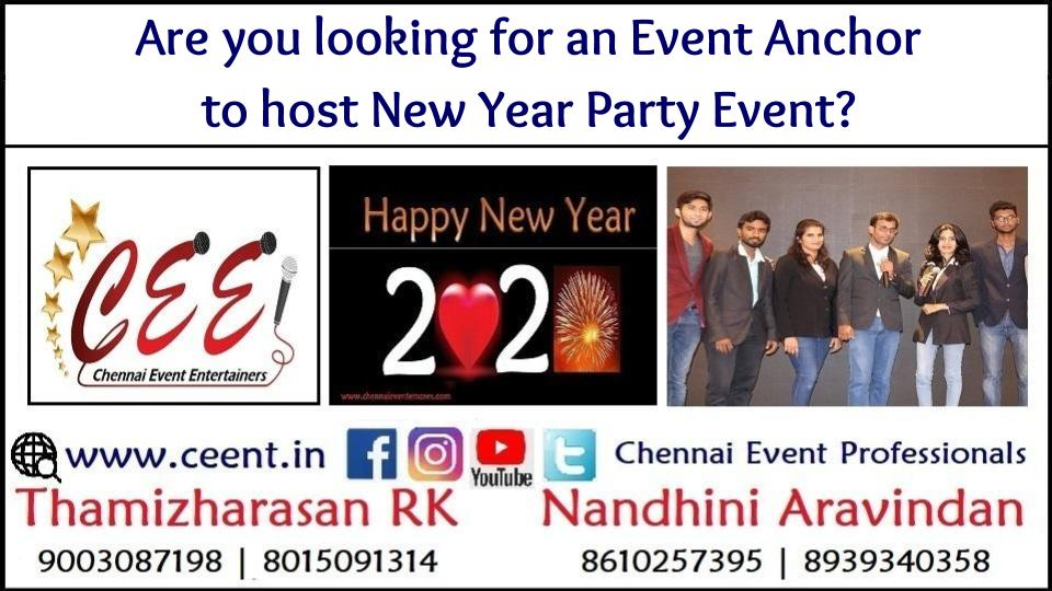 Are you looking for Event Anchors to host New Year Party Events?