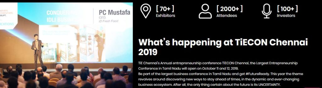 Chennai Event Emcees Professionals Stall at TiECON CHENNAI 2019 TiE SANDHAI