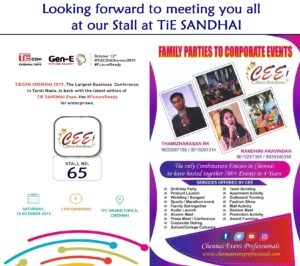 Chennai Event Emcees Professionals Stall at TiECON CHENNAI 2019 TiE SANDHAI EXPO