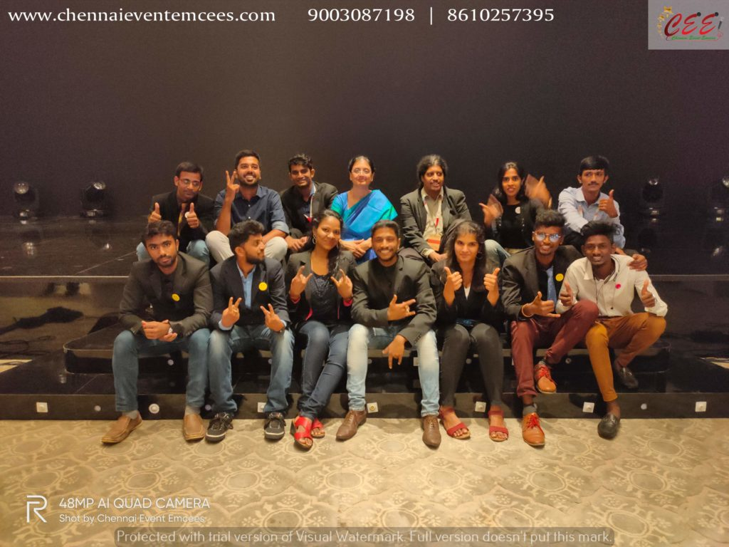 Chennai Event Emcees Entertainers and Professionals with TiECON CHENNAI 2019 Team at ITC Grand Chola