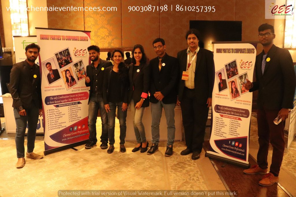 Chennai Event Emcees Entertainers and Professionals Team at TiECON CHENNAI 2019 at ITC Grand Chola
