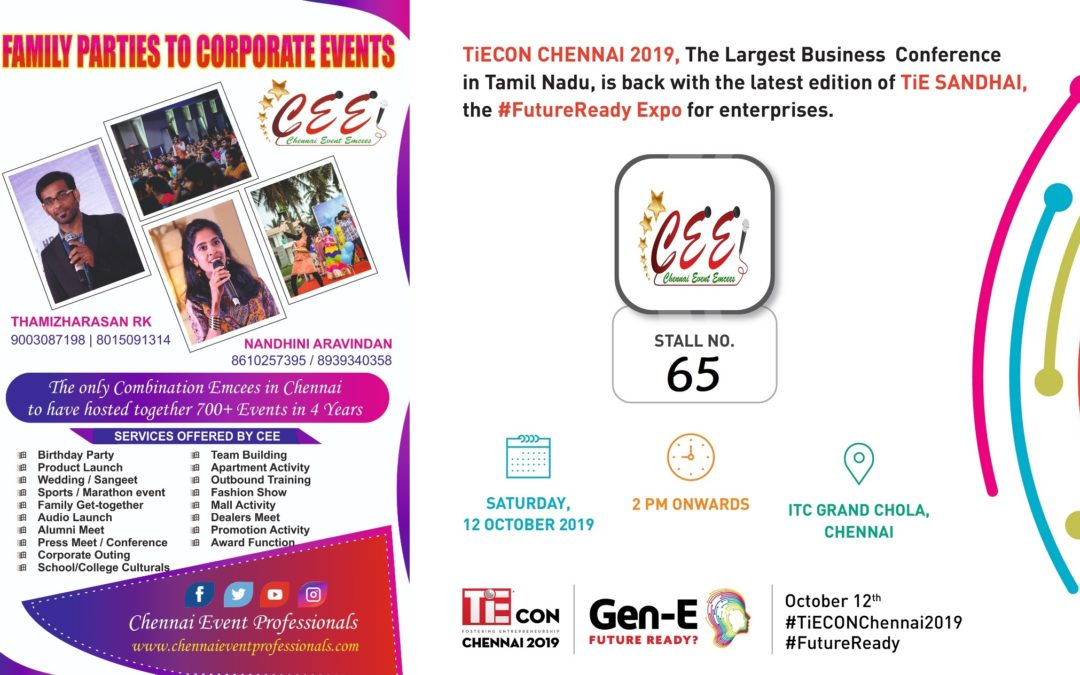 TiECON CHENNAI 2019 TiE SANDHAI EXPO Photos of Chennai Event Emcees