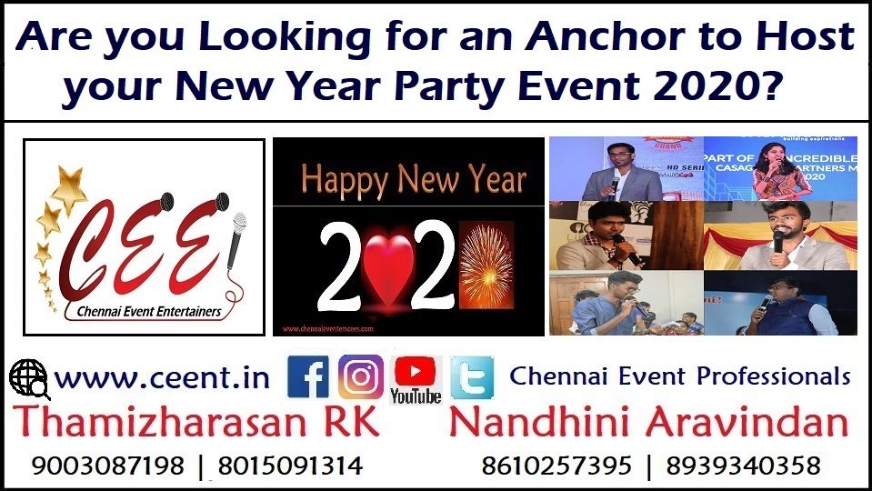 Are you Looking for an Anchor to Host Your New Year Party Event 2020 in Chennai and Puducherry 3