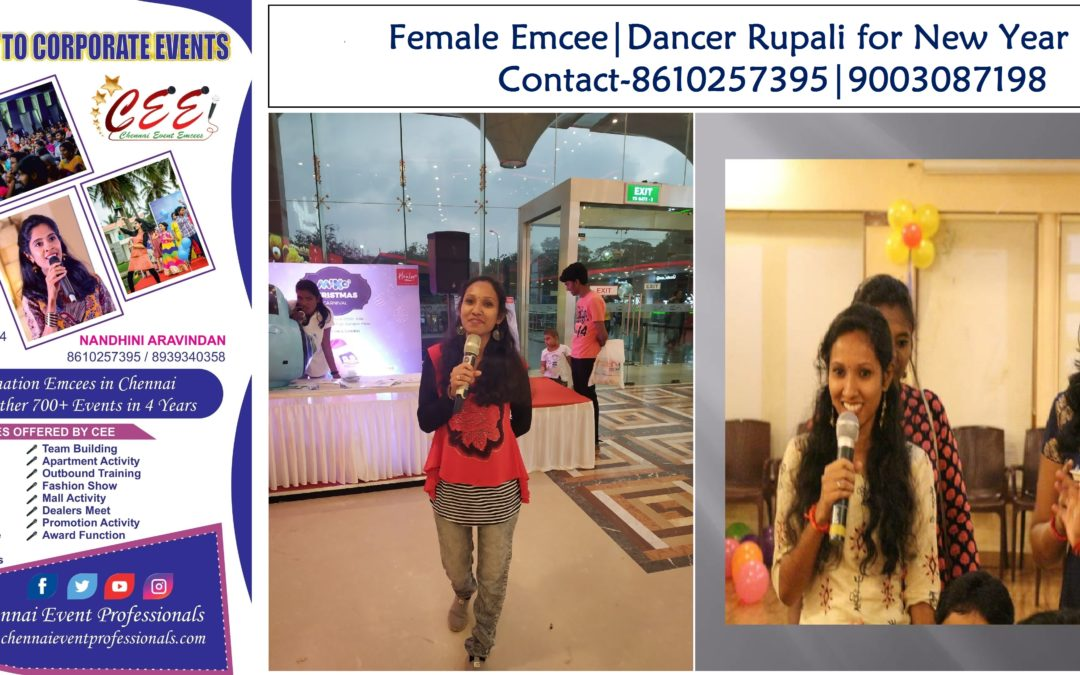 Female Emcee in Chennai MC Dancer Choreographer Rupali