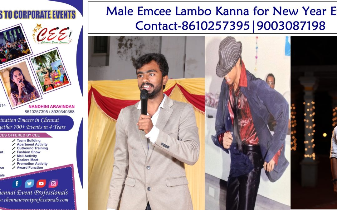 Male Emcee in Chennai MC Dancer Choreographer Lambo Kanna
