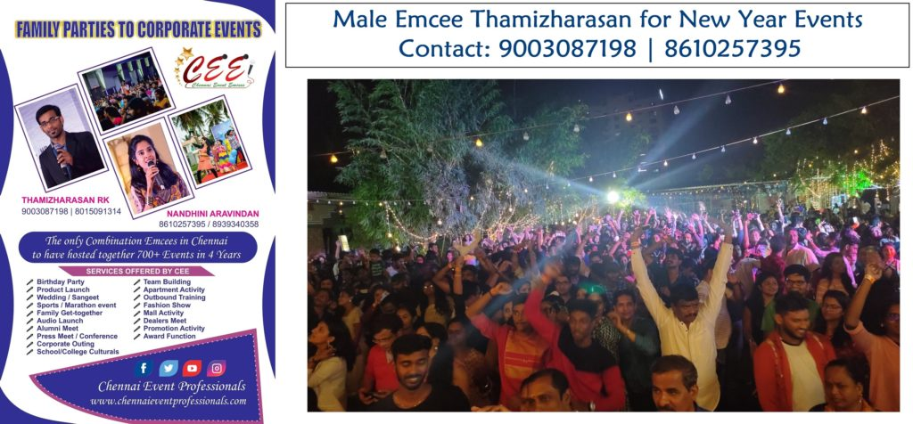 Non Alcoholic New Year Party 2020 hosted by Chennai MC Thamizh at Kriyates