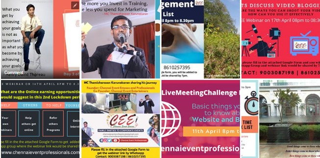 21 Days Live Meeting Challenge by Digital Emcee Thamizharasan