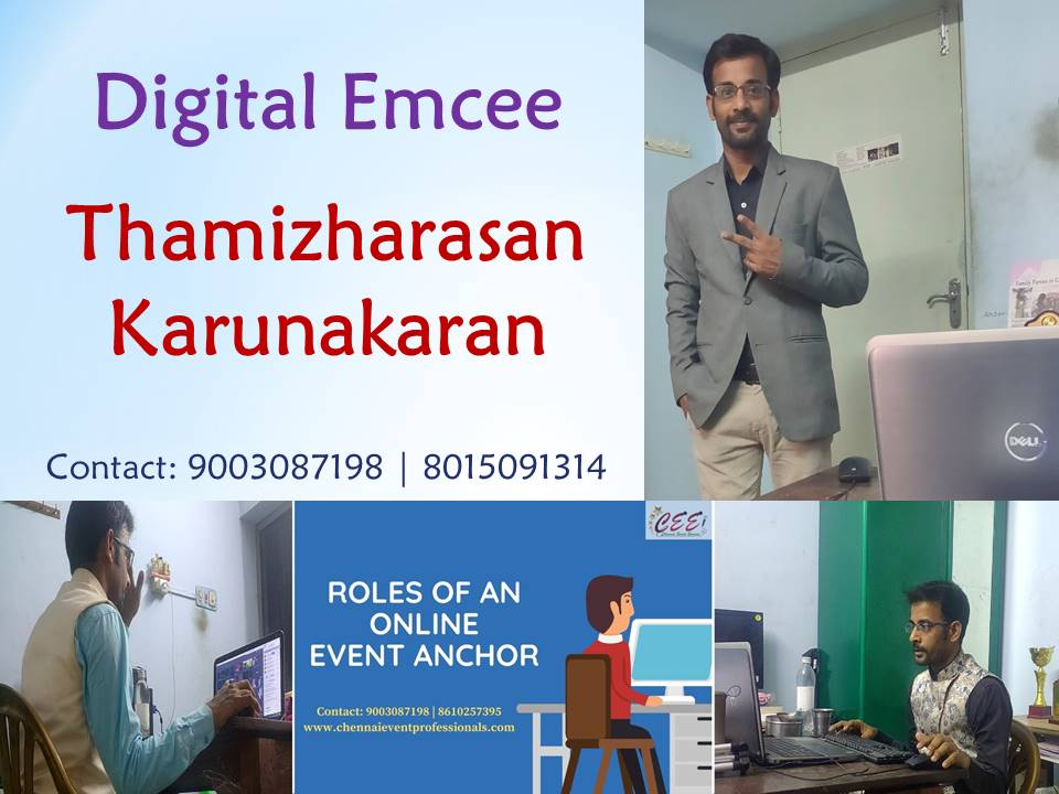 Virtual Events by Chennai Event Professionals Digital Anchors Emcees Thamizharasan and Nandhini Aravindan