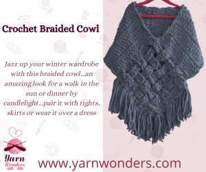 Online crocheting classes Crochet Braided Cowl