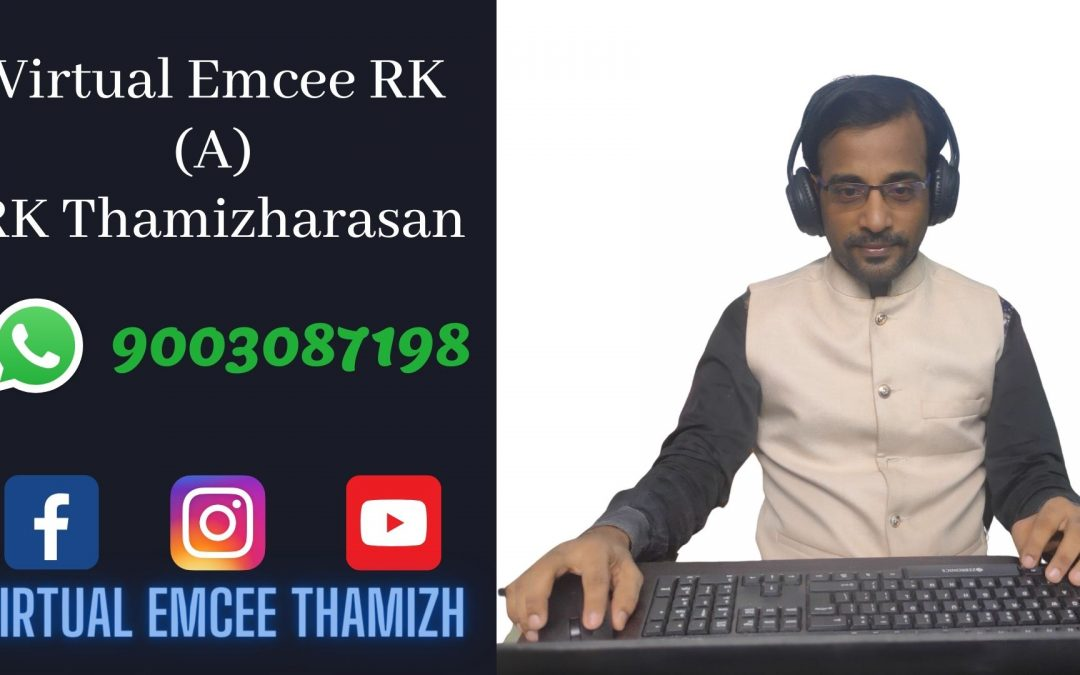 Virtual Emcee RK Profile for Online Birthdays and Corporate Events