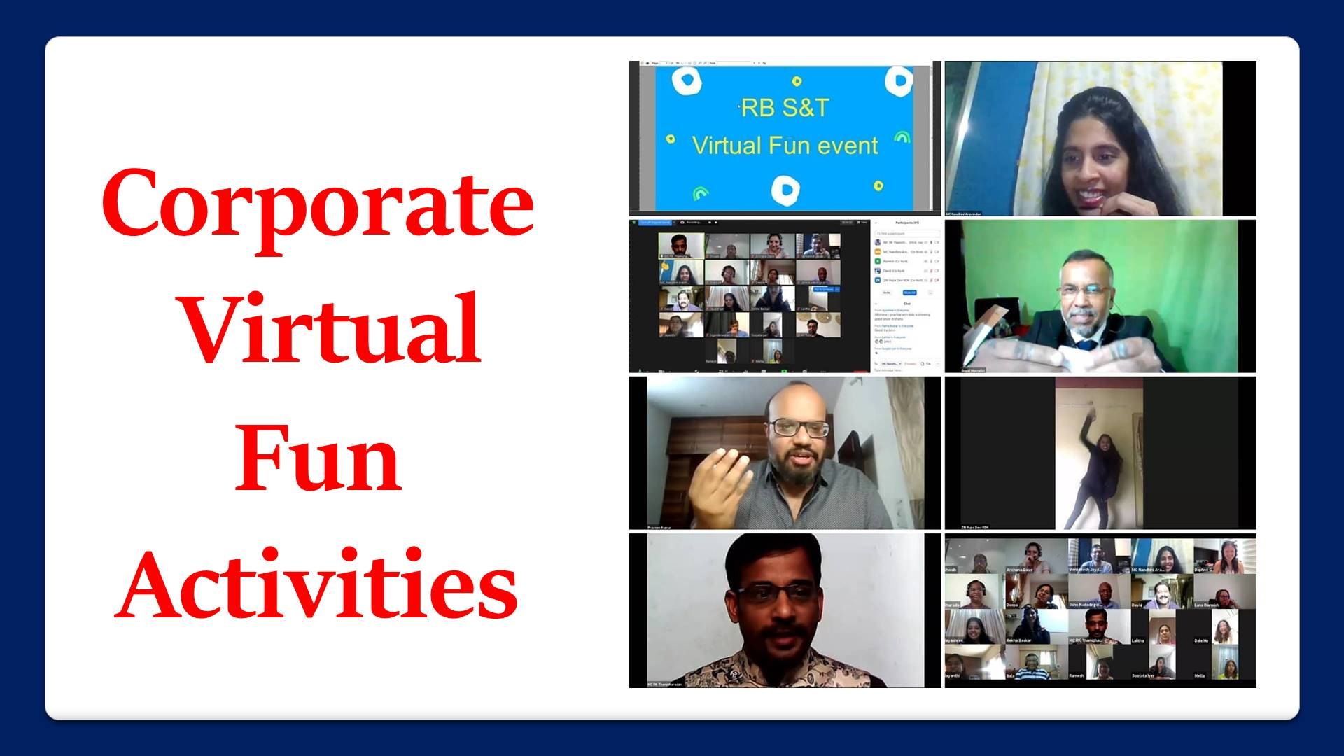 Corporate Virtual Fun Activities Plan Chennai Event Professionals and Entertainers