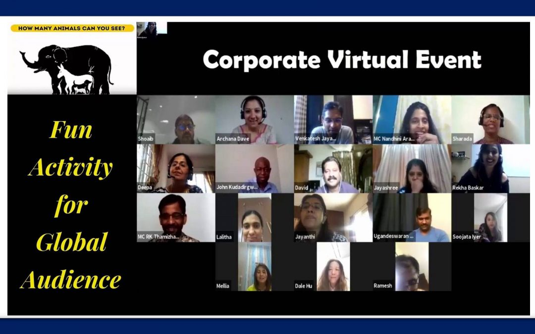 Corporate Virtual Fun Activities Plan by Chennai Event Professionals and Entertainers